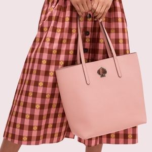suzy large north south tote pink Kate spade NWT